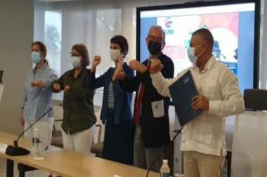 Funcionarios del PNUD Cuba y Francia firman proyecto sobre Cambio Climático