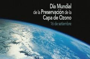 Cartel alegórico al Día Mundial de la Preservación de la Capa de Ozono