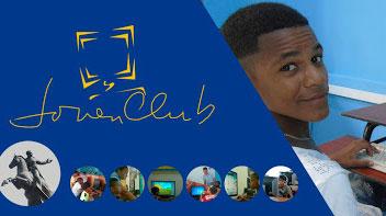 Cartel alegórico a  los Joven Club de Computación Electrónica