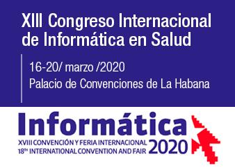 Cartel alegórico al XIII Congreso Internacional de Informática en Salud 2020