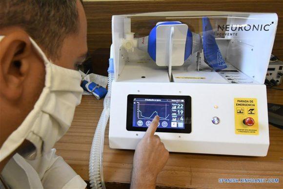 Ventilador pulmonar de fabricación cubana