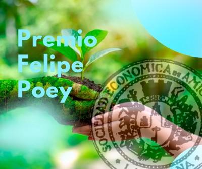 Cartel alegórico al Premio Felipe Poey