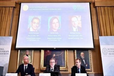 Premio Nobel de Economía 2019 reconoce a luchadores contra la pobreza global
