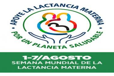 Cartel alegórico a la Semana Mundial de la Lactancia Materna