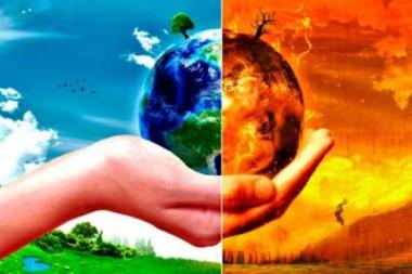 Cartel alegórico al cambio climático