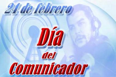 Cartel alegórico al Día del Comunicador en Cuba