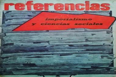 Cartel alegórico al imperialismo y las ciencias sociales